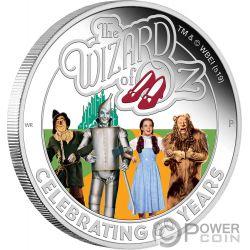 WIZARD OF OZ Zauberer 80 Jahrestag 1 Oz Silber Münze 1$ Tuvalu 2019