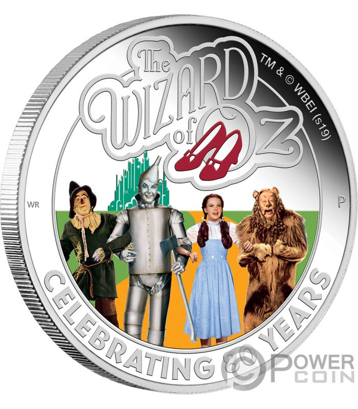 Wizard Of Oz 80th Anniversary 1 Oz Silver Coin 1 Tuvalu