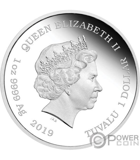 WIZARD OF OZ 80th Anniversary 1 Oz Silver Coin 1$ Tuvalu 2019