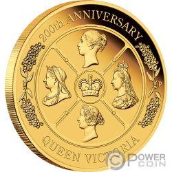 QUEEN VICTORIA 200 Anniversario 2 Oz Moneta Oro 200$ Australia 2019