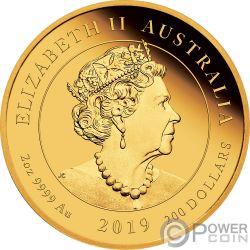 QUEEN VICTORIA 200 Anniversary 2 Oz Gold Coin 200$ Australia 2019
