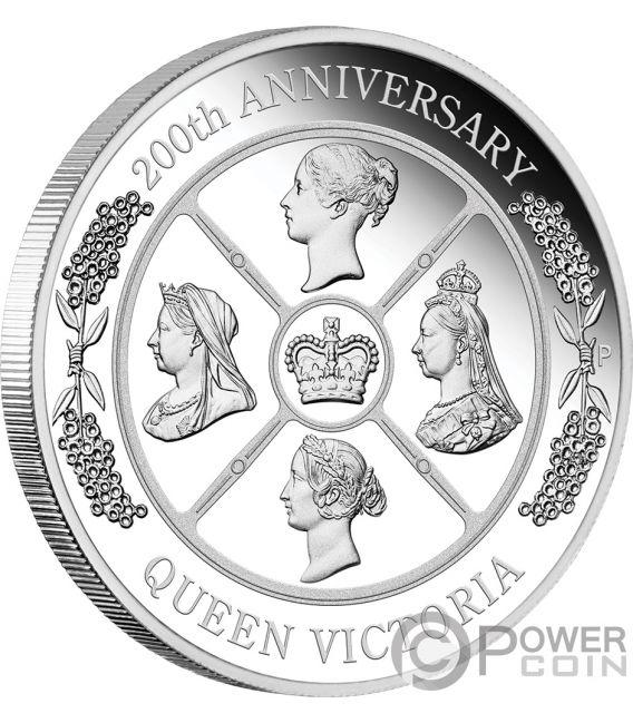 QUEEN VICTORIA 200 Anniversary 1 Oz Silver Coin 1$ Australia 2019