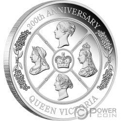 QUEEN VICTORIA 200 Aniversario 1 Oz Moneda Plata 1$ Australia 2019