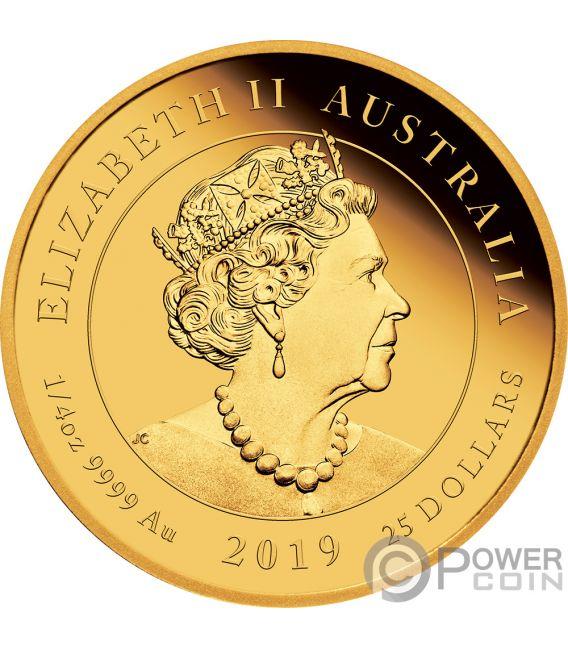 QUEEN VICTORIA 200 Anniversary 1/4 Oz Gold Coin 25$ Australia 2019