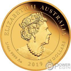 QUEEN VICTORIA 200 Aniversario 1/4 Oz Moneda Oro 25$ Australia 2019