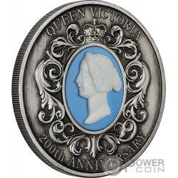 QUEEN VICTORIA Cameo 200 Юбилей 2 Oz Монета Серебро 2$ Австрия 2019