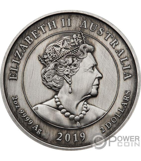 QUEEN VICTORIA Kamee 200 Jahrestag 2 Oz Silber Münze 2$ Australia 2019