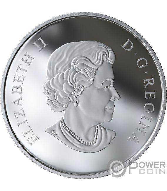 ROSE BLOSSOMS Queen Elizabeth Silver Coin 3$ Canada 2019