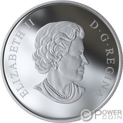 ROSE BLOSSOMS Boccioli Rosa Queen Elizabeth Moneta Argento 3$ Canada 2019
