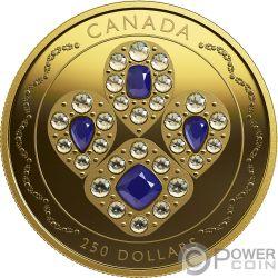 SAPPHIRE TIARA Saphir Queen Elizabeth 2 Oz Gold Münze 250$ Canada 2019