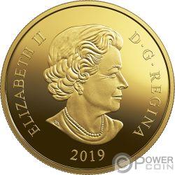 SAPPHIRE TIARA Сапфир Королева Елизавета 2 Oz Монета Золото 250$ Канада 2019