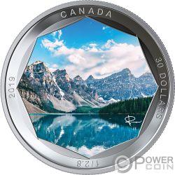 MORAINE LAKE Lago Foto Peter McKinnon 2 Oz Moneta Argento 30$ Canada 2019
