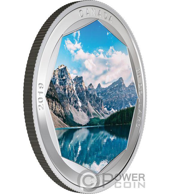 MORAINE LAKE Photo Peter McKinnon 2 Oz Silver Coin 30$ Canada 2019