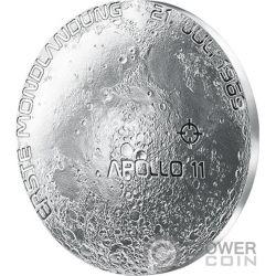 MOON LANDING 50th Anniversary Серебро Монета 20€ Euro Австрия 2019