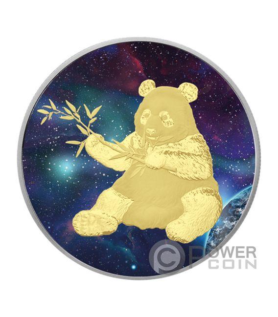 BIG BANG PANDA Colorized Silber Münze 10 Yuan China 2017