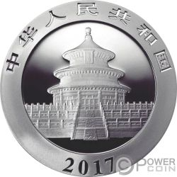 BIG BANG PANDA Colorized Moneda Plata 10 Yuan China 2017