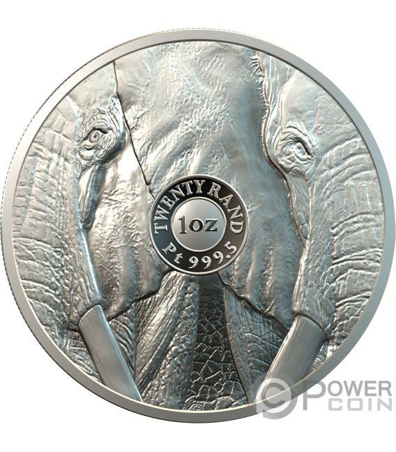 ELEPHANT Elefant Big Five 1 Oz Platin Münze 20 Rand South Africa 2019