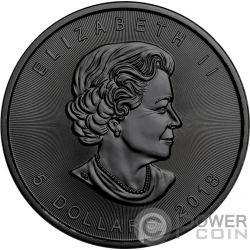 SMOKE GRIM REAPER Death Maple Leaf 1 Oz Silver Coin 5$ Canada 2018
