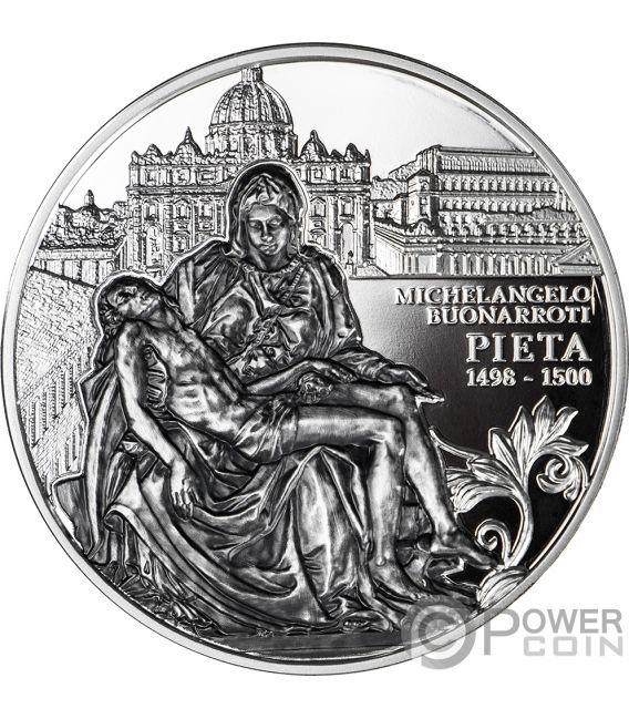 PIETA Masterpieces of Sculptural 2 Oz Silver Coin 5$ Niue 2019