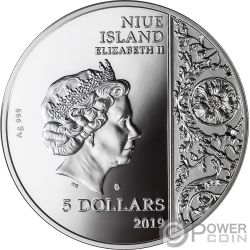 PIETA Masterpieces of Sculptural 2 Oz Moneda Plata 5$ Niue 2019