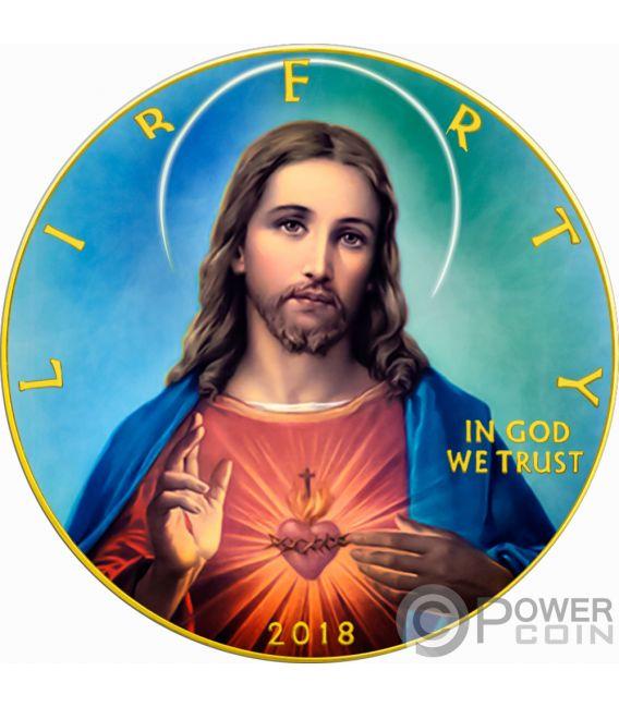 JESUS CHRIST Walking Liberty 1 Oz Silber Münze 1$ USA 2018