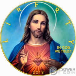 JESUS CHRIST Walking Liberty 1 Oz Silver Coin 1$ US Mint 2018