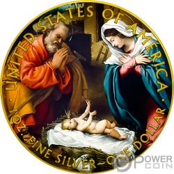 JESUS CHRIST Христос Свобода Ходьба 1 Oz Монета Серебро 1$ США Mint 2018