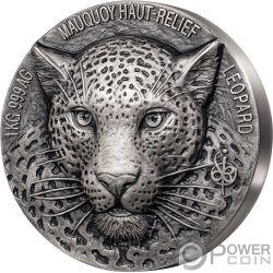 LEOPARD Big Five Mauquoy 1 Kg Kilo Silber Münze 10000 Franken Ivory Coast 2019