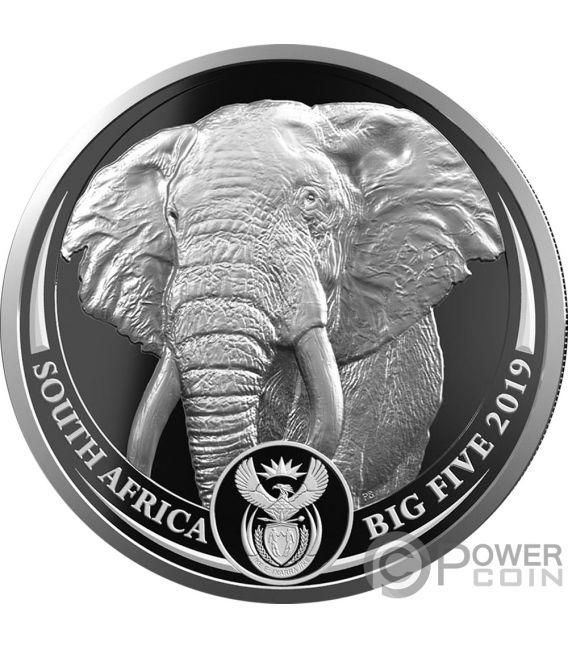 BIG FIVE With Privy Elephant Krugerrand Set 2x1 Oz Silber Münzen 6 Rand South Africa 2019