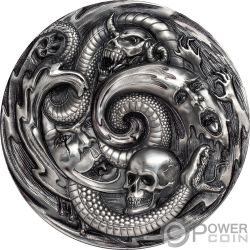 PANDORA BOX Evil Within EHR Epic High Relief 3 Oz Silver Coin 20$ Palau 2019