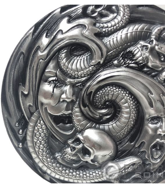 PANDORA BOX Büchse Evil Within EHR Epic High Relief 3 Oz Silber Münze 20$ Palau 2019