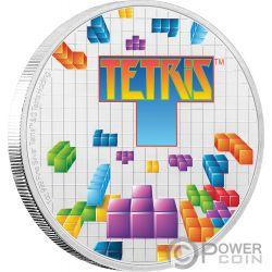 TETRIS 35 Jahrestag 1 Oz Silber Münze 2$ Niue 2019
