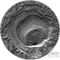 COPERNICUS MOON NWA 8609 Luna Universe Craters 1 Oz Moneta Argento 1$ Niue 2019