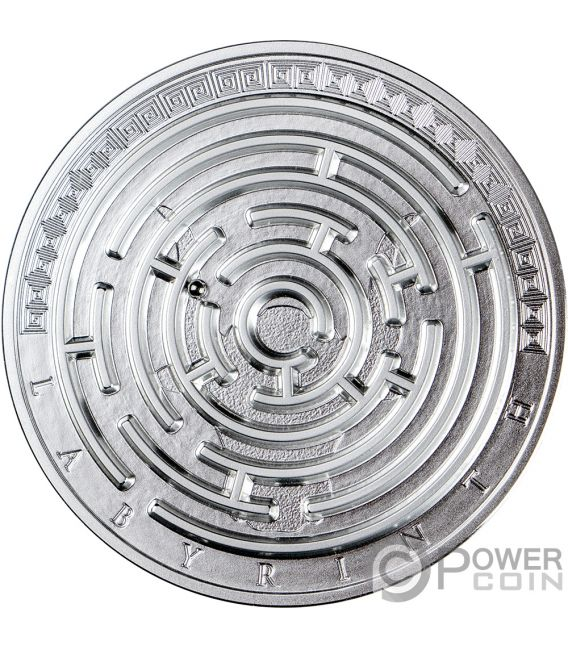 LABYRINTH Лабиринт Загадка 3 Oz Монета Серебро 3000 Франков Камерун 2019