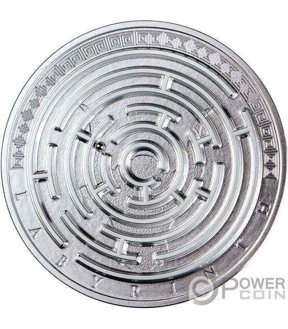 LABYRINTH Riddle 3 Oz Серебро Монета 3000 Франков Камерун 2019