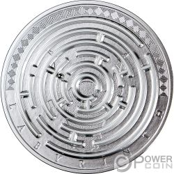 LABYRINTH Laberinto Riddle 3 Oz Moneda Plata 3000 Francos Cameroon 2019