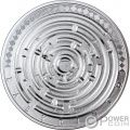 LABYRINTH Riddle 3 Oz Silver Coin 3000 Francs Cameroon 2019