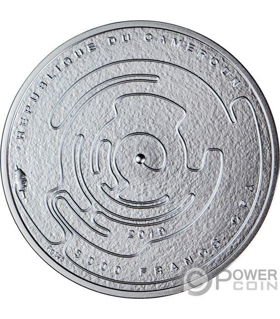 LABYRINTH Laberinto Riddle 3 Oz Moneda Plata 3000 Francos Cameroon 2019