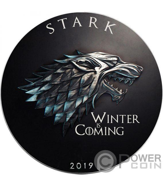 STARK Winter Coming Game of Thrones GOT Walking Liberty 1 Oz Silver Coin 1$ USA 2019