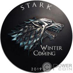 STARK Inverno Arrivando Game of Thrones GOT Walking Liberty 1 Oz Moneta Argento 1$ US Mint 2019