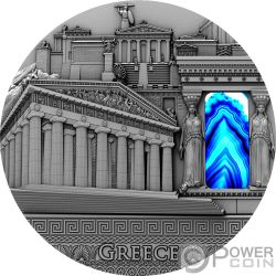 GREECE Grecia Minelare Imperial Art 2 Oz Moneta Argento 2$ Niue 2018
