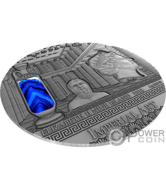 GREECE Griechenland Imperial Art 2 Oz Silber Münze 2$ Niue 2018