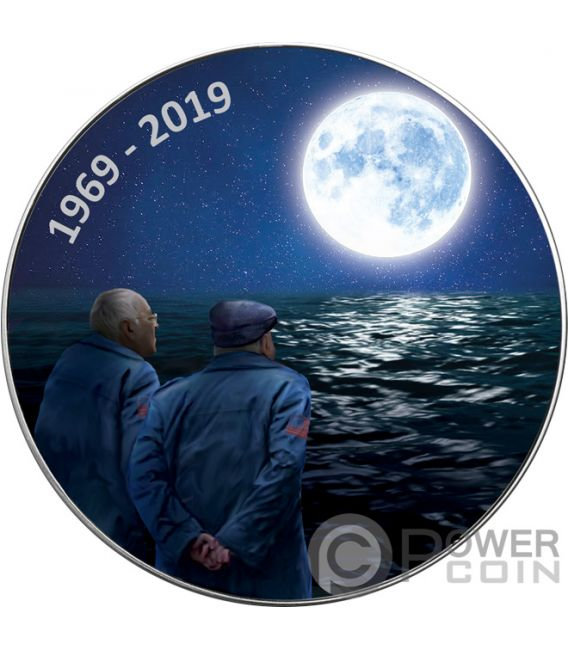 MOON LANDING NOSTALGIA Ходьба Свободы 1 Oz Серебро Монета 1$ US Mint 2019