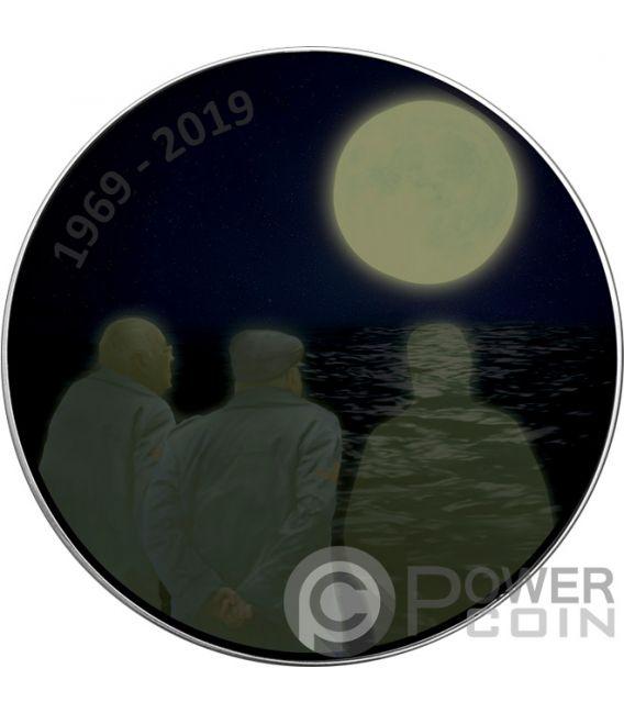 MOON LANDING NOSTALGIA Walking Liberty 1 Oz Silver Coin 1$ USA 2019