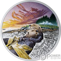 SEA OTTER Nutria Fauna 1 Oz Moneda Plata 20$ Canada 2019