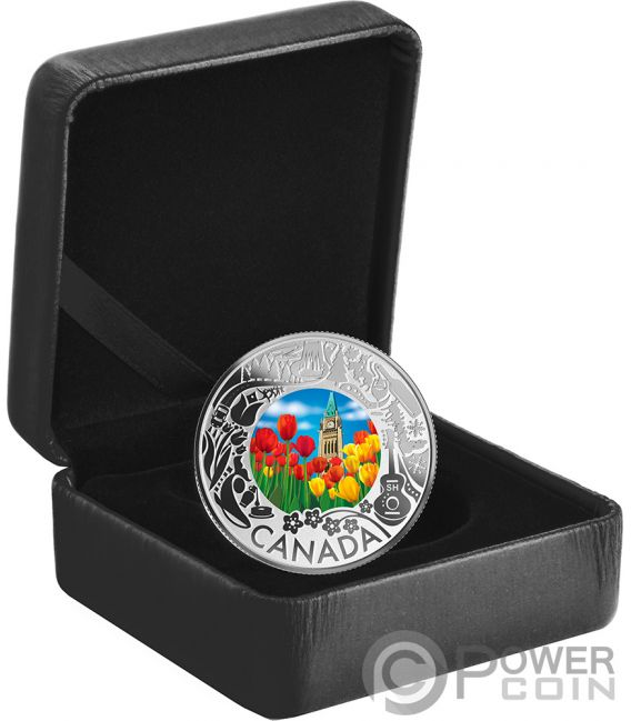 TULIPS Fun and Festivities Silver Coin 3$ Canada 2019