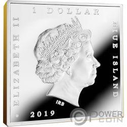 MILKMAID Молочница Вермеер Сокровища Мира 1 Oz Монета Серебро 1$ Ниуэ 2019