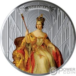 QUEEN VICTORIA 200 Anniversario 5 Oz Moneta Argento 50$ Canada 2019