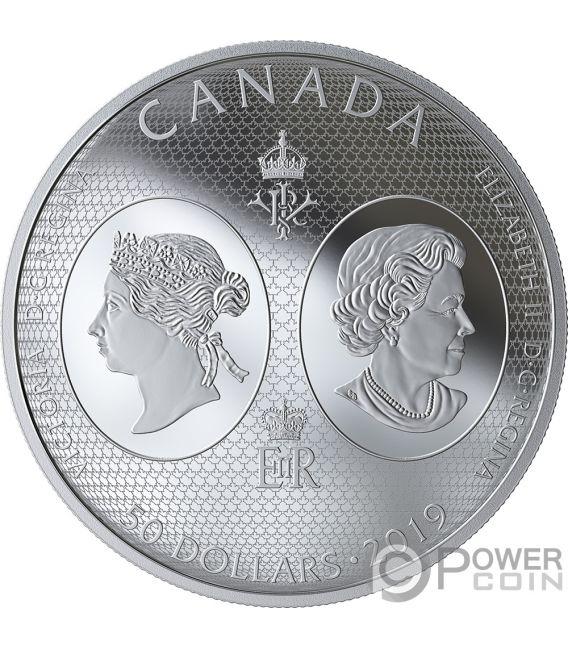 QUEEN VICTORIA 200 Anniversary 5 Oz Silver Coin 50$ Canada 2019