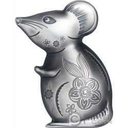 WITTY MOUSE Мышь Лунный Год 1 Oz Silver Coin 1000 Тугрик Монголия 2020